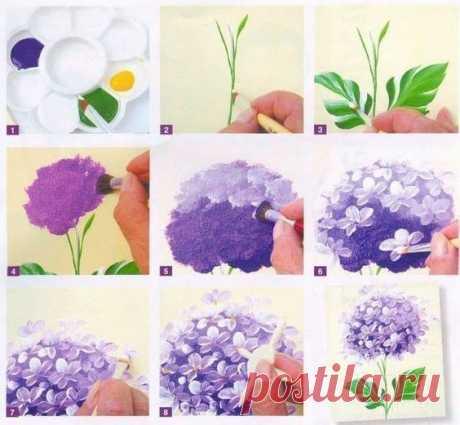 Рисование цветов поэтапно — Сделай сам, идеи для творчества - DIY Ideas