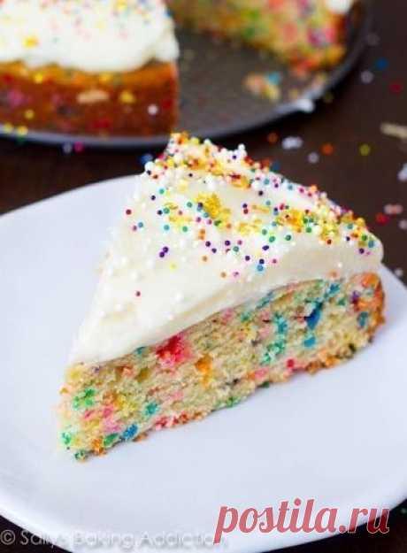 Как приготовить легкий домашний пирог с конфетти - рецепт, ингредиенты и фотографии