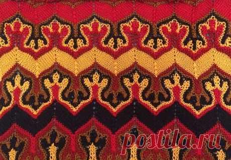 .Fox Paws - шарф Лисьи Лапки - многоцветный узор спицами, но это не жаккард! - Вязание спицами - Страна Мам