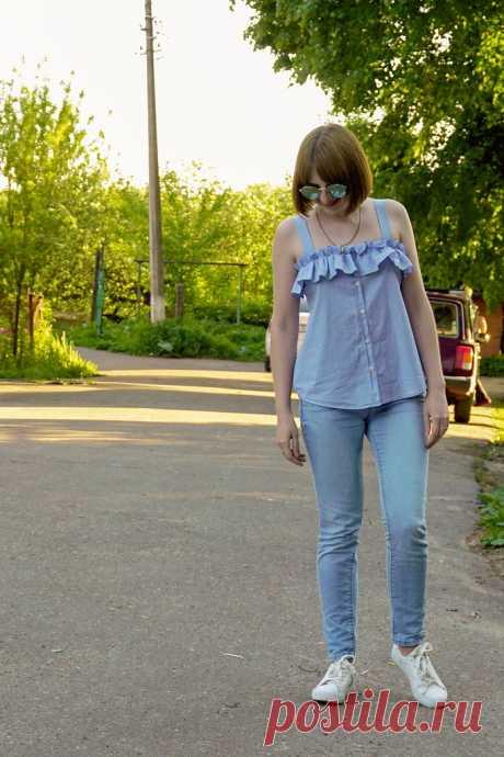 DIY: Переделываю рубашку в модный топ! - Bezdushna Fashion: DIY, Fashion, Lifestyle