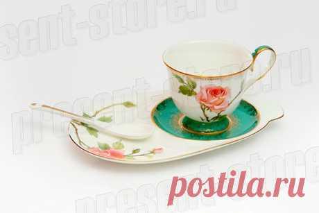 """JK- 70 Чайная пара """"Роза"""" (Milano Rose Pavone) – купить в интернет магазине Present-Store.ru"""