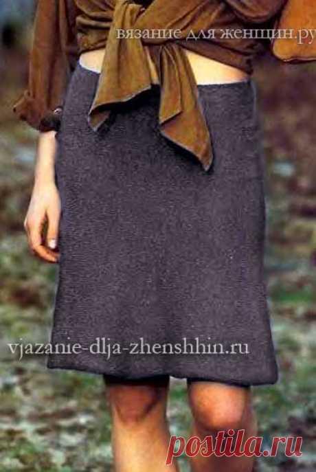 Юбка спицами модная вязаная юбка годе 2017