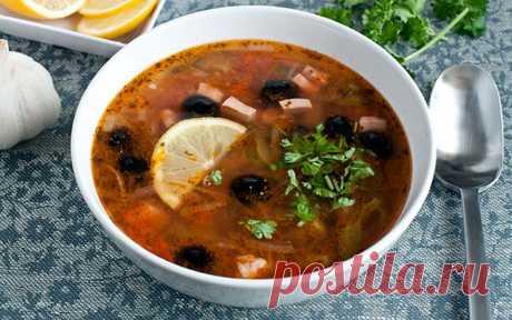 Насыщенная и вкусная солянка сборная мясная — Вкусные рецепты