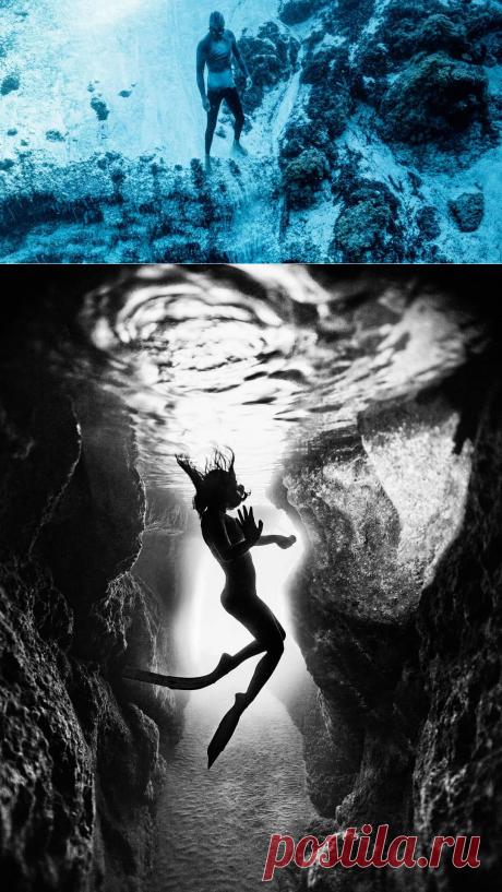 Спортивная фотография freediving/фридайвинг