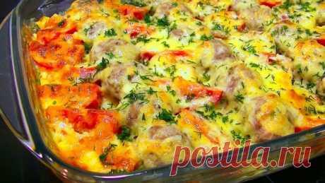 Картофельная запеканка с мясными шариками — Sloosh – кулинарные рецепты