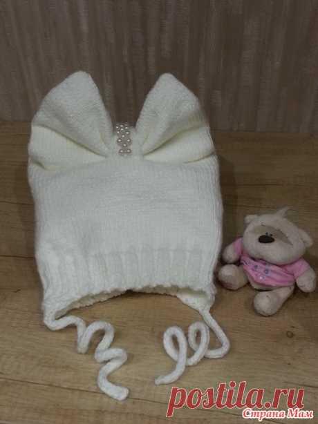 Наконец я её закончила - моя шапочка-бант для дочки. Полное описание как я её вязала - Вязание - Страна Мам
