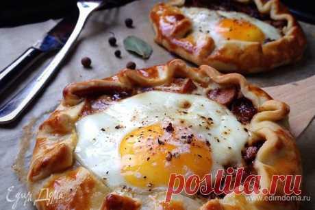 Галета к завтраку, рецепт с ингредиентами: пшеничная мука, шампиньоны, яичные желтки