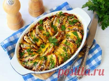 Тыква, запеченная с картошкой в духовке. Тыква, запеченная в духовке с картофелем, чесноком и травами - вкусный и незатейливый гарнир, который прекрасно дополнит обед или ужин.