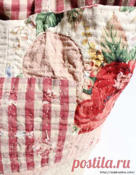 Объемная сумка Boro Flower Tote