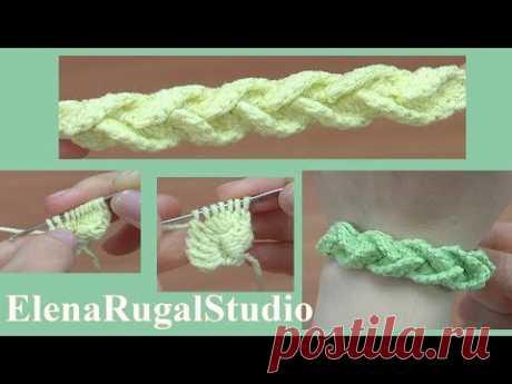 Объёмный шнур крючком, для браслета и не только......  Урок 176 - YouTube