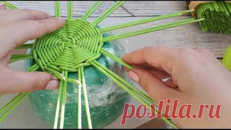 Яблоко из бумажных трубочек. Как я плету.