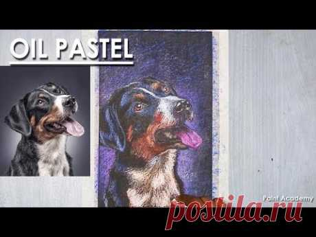 How to Draw A Dog Portrait in Oil Pastel