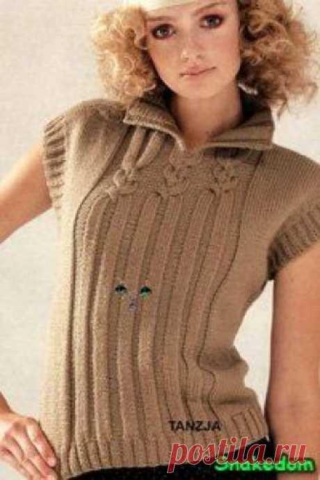Tejido por los rayos el chaleco. El chaleco tejido femenino. El chaleco tejido - el Jersey, el chaleco, las blusas - Tejemos por los rayos - el Esquema para la labor de punto - la Labor de punto por el gancho y los rayos