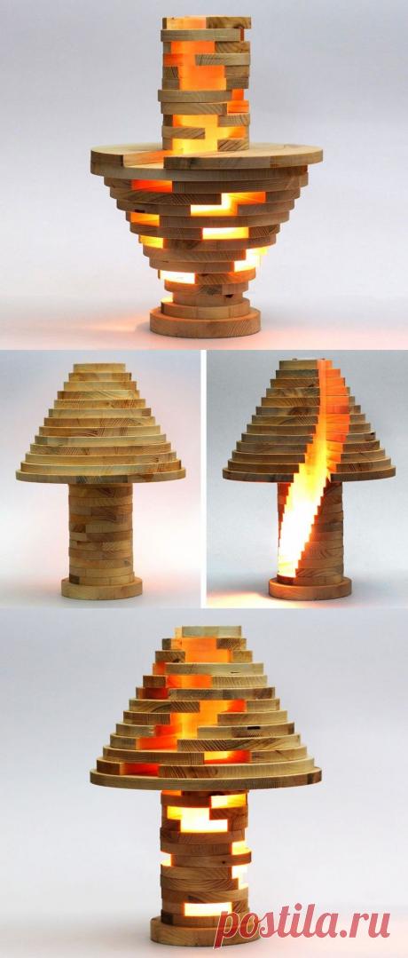 Очень необычная настольная лампа своими руками — Делаем руками
