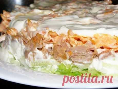 Новый салат «Мужской каприз» — Готовим по-домашнему