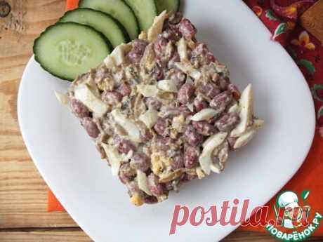 Салат с фасолью и шампиньонами – кулинарный рецепт