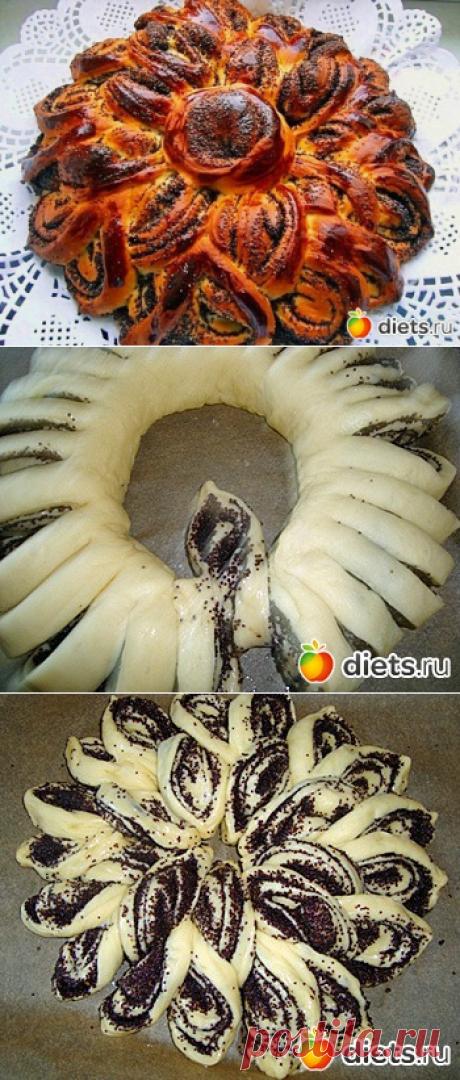 """Пирог с маком"""" Бабушкина салфетка"""" Мастер класс: Красивые вкусные и оригинальные блюда: Группы - diets.ru"""