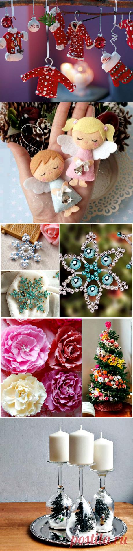 На пороге праздника: 18 эксклюзивных новогодних украшений, которые можно сделать своими руками