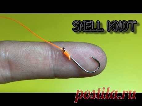 Snell knot | Как привязать крючок | Fishing Knots - YouTube