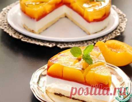 Холодный чизкейк с персиковым желе – кулинарный рецепт