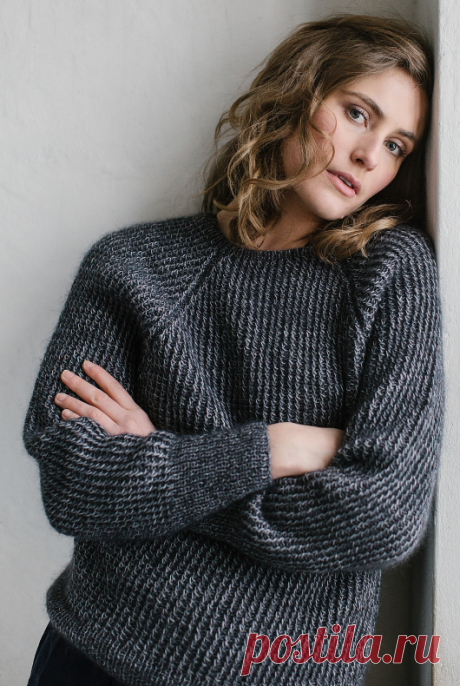 Knitted Black Ice sweater | STAY-AT-HOME