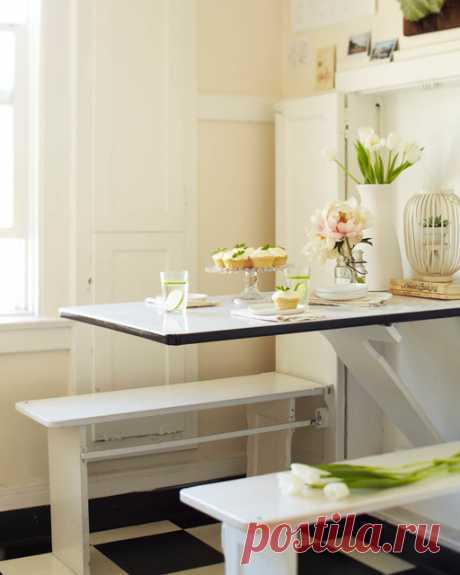Раскладные столы для кухни: фото 20 интересных столов-трансформеров для маленькой кухни