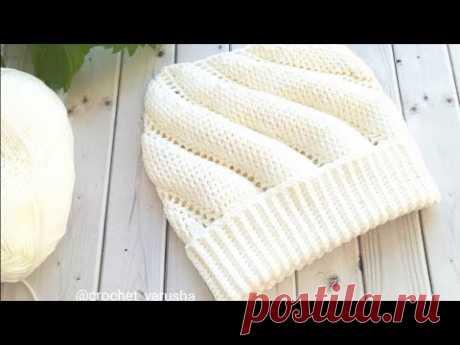 Шапка крючком на Весну - Осень//Crochet hat for Spring - Autumn