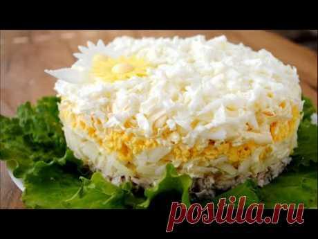 Салат «НЕВЕСТА» на Праздник. Простой И Вкусный салат на НОВЫЙ ГОД 2020 с курицей и сыром 🌟 - YouTube