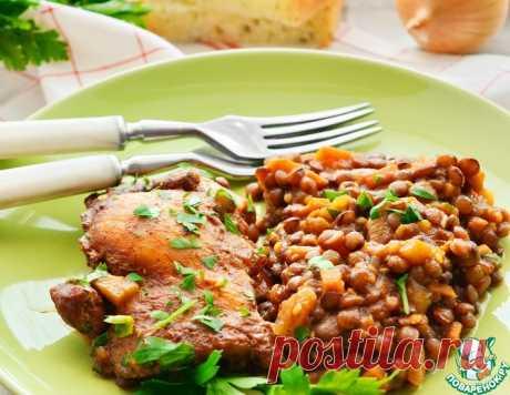 Цыпленок с чечевицей в томате – кулинарный рецепт