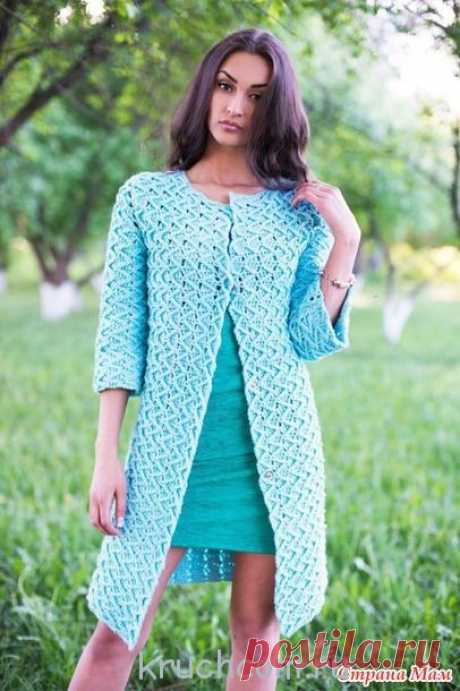 Схемы вязания крючком пальто для женщин - описание бесплатно : Kruchcom.ru