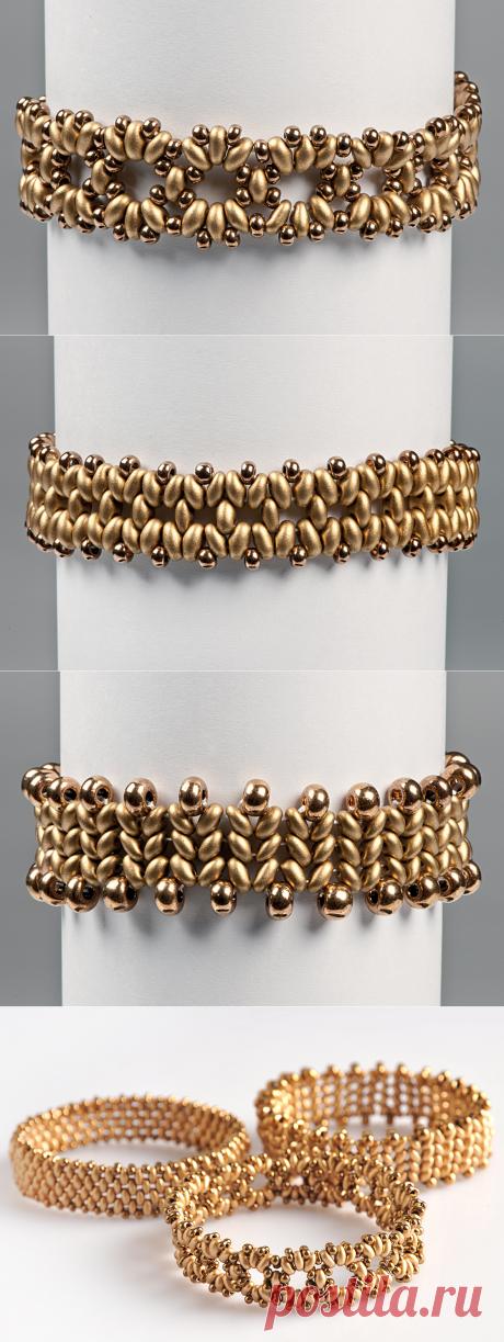 Схемы для простых браслетов из бисера