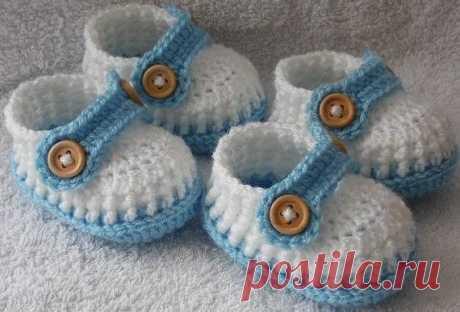 Пинетки-мокасины для малыша (Вязание крючком) – Журнал Вдохновение Рукодельницы