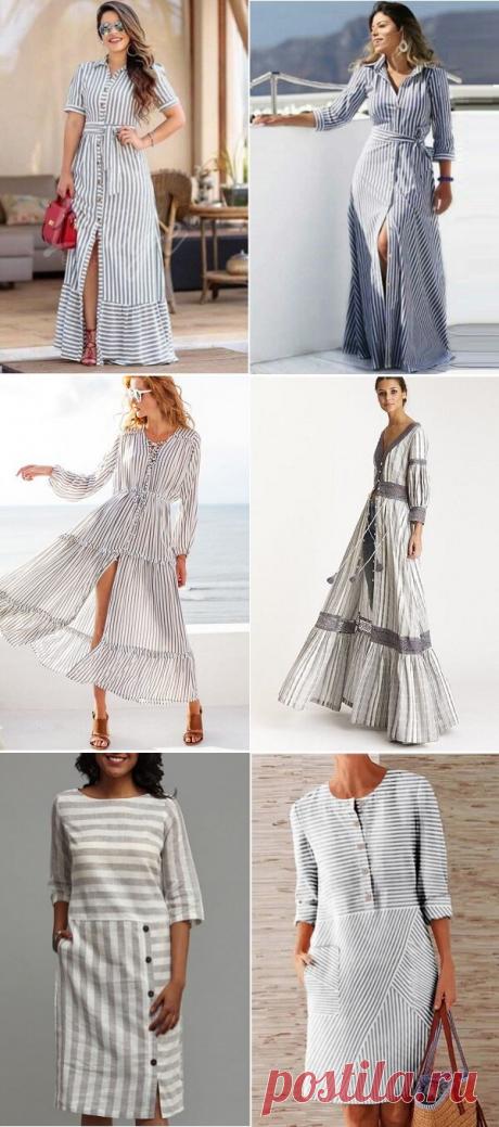 Подборка из 25 моделей летних платьев из тканей в полоску на любой вкус, размер и рост! | ДОМ ЯРКИХ ИДЕЙ | Яндекс Дзен
