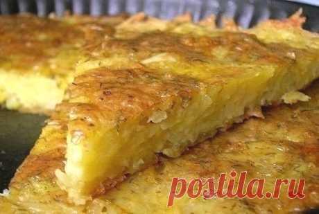 Запеканка из тертого картофеля с сыром   Печем и варим