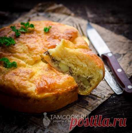 Пирог с печенкой и картофелем - настолько вкусный, что успокоиться невозможно, пока все не съешь