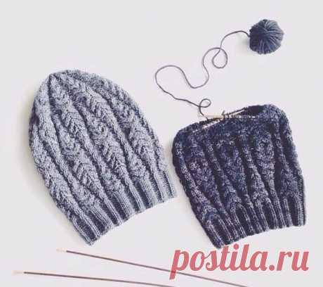 Схема к милой шапочке, вязаной спицами из категории Интересные идеи – Вязаные идеи, идеи для вязания