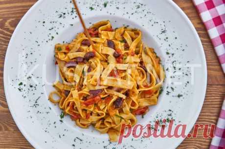 Макароны с фасолью в томатном соусе. Рецепт с фото • Кушать нет