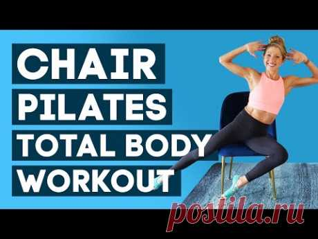 Chair Pilates Total Body Workout   Chair Pilates Full Body Workout (NO IMPACT!)
