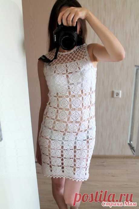 Пляжное платье из мотивов - Вязание - Страна Мам