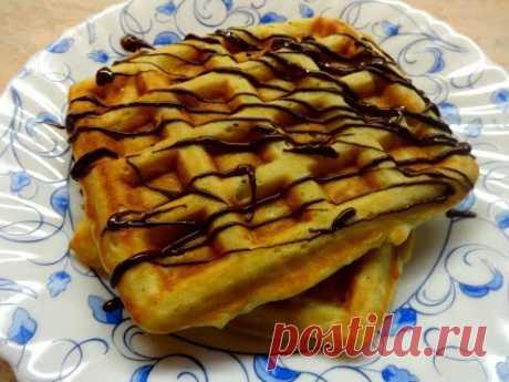 Яблочные вафли в электровафельнице. Вкусный завтрак! Венские вафли с яблоками.