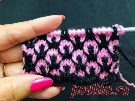 Knitting Double Colour Design # 202 || Latest Hindi Video || बुनाई डिजाईन वीडियो ||