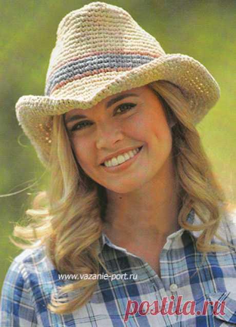 El sombrero de cow-boy tejido