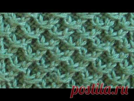 Relief pattern honeycombs Knitting by spokes Video lesson 273