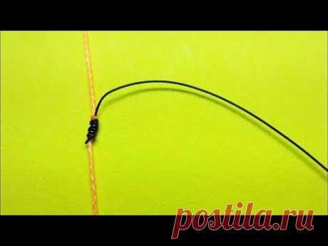 Топ 3 как привязать отводной поводок | отводной поводок на окуня | самоделки и лайфхаки | рыбалка - YouTube