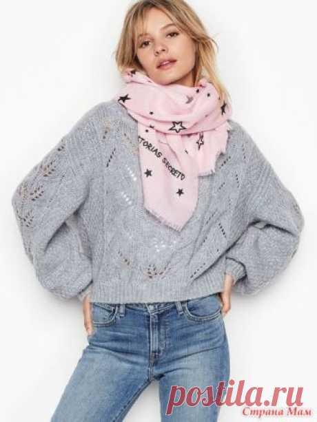 Свяжем вместе он-лайн пуловер оверсайз от Виктории Сикрет - Вяжем вместе он-лайн - Страна Мам