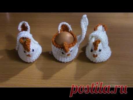Вязание курочки для пасхальных яиц столбиками без накида