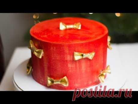 СЪЕДОБНЫЙ ШЁЛК ДЛЯ ТОРТА. Как украсить торт насыщенным кремом. Как окрасить торт.