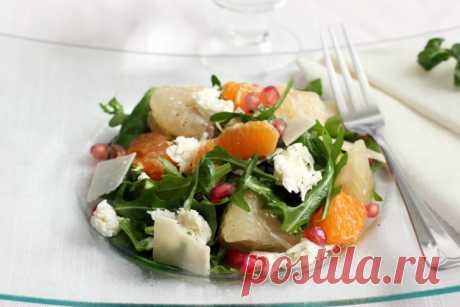 Салат из помело, апельсинов и моцареллы — EMILY