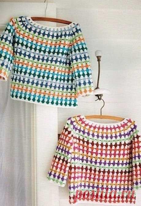 Идея для пуловера крючком