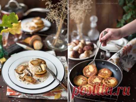 Картофельные котлеты с грибным соусом   Вкусные рецепты